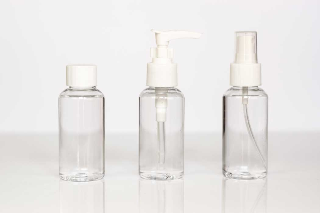 Carry your hair essentials in travel-friendly bottles!